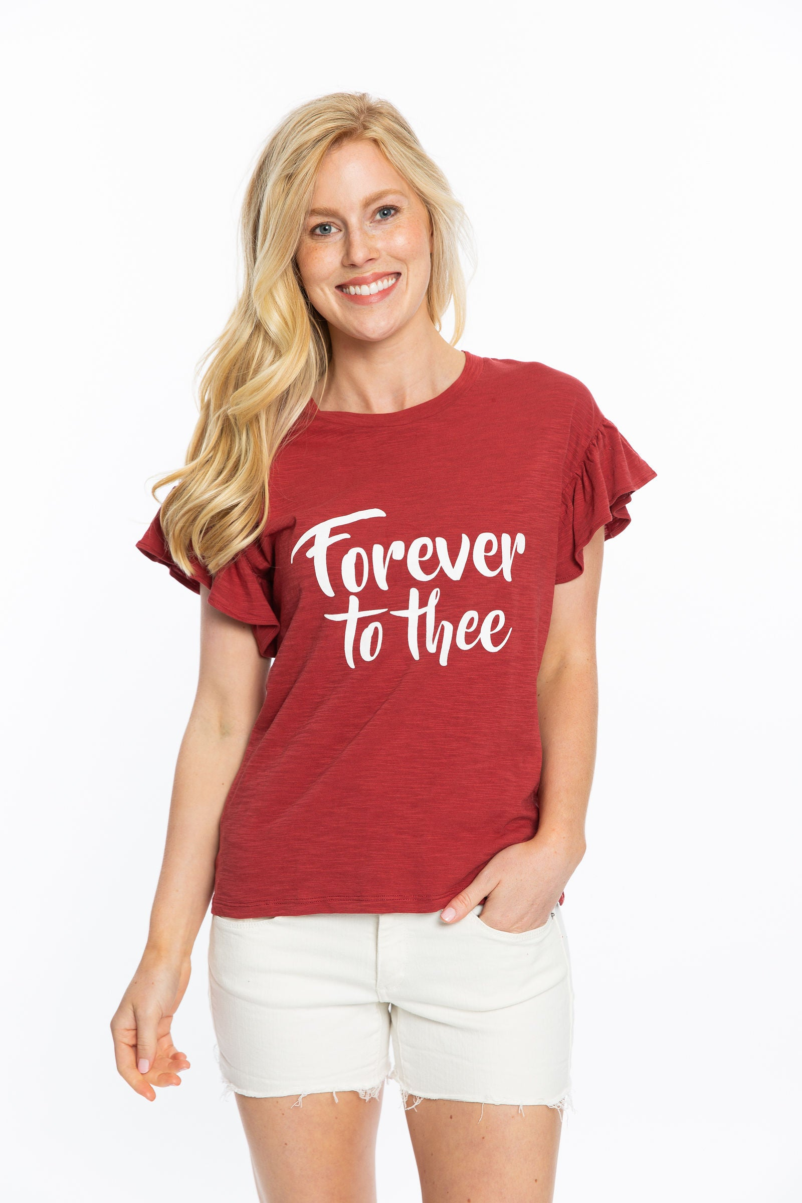 Forever to Thee | Ruffle Sleeve Shirt