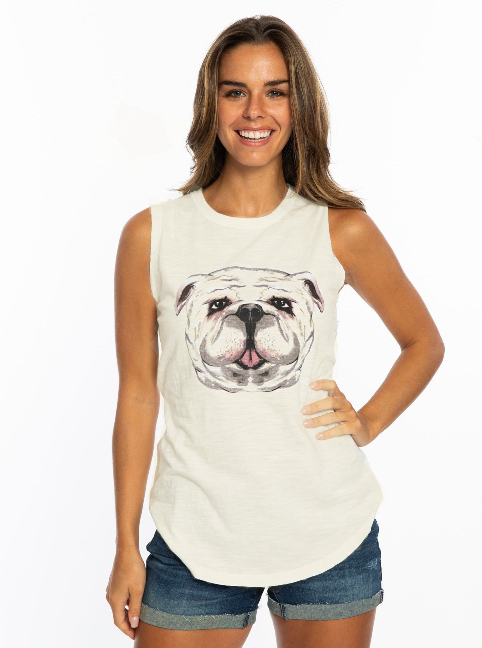 Watercolor Bulldog | Tank