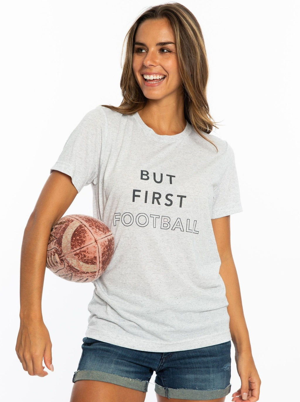 But First Football | Crew Tee