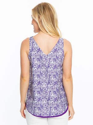 Reversible Tank | Purple Tiger Print