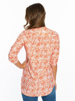 Tunic | Orange Tiger Print