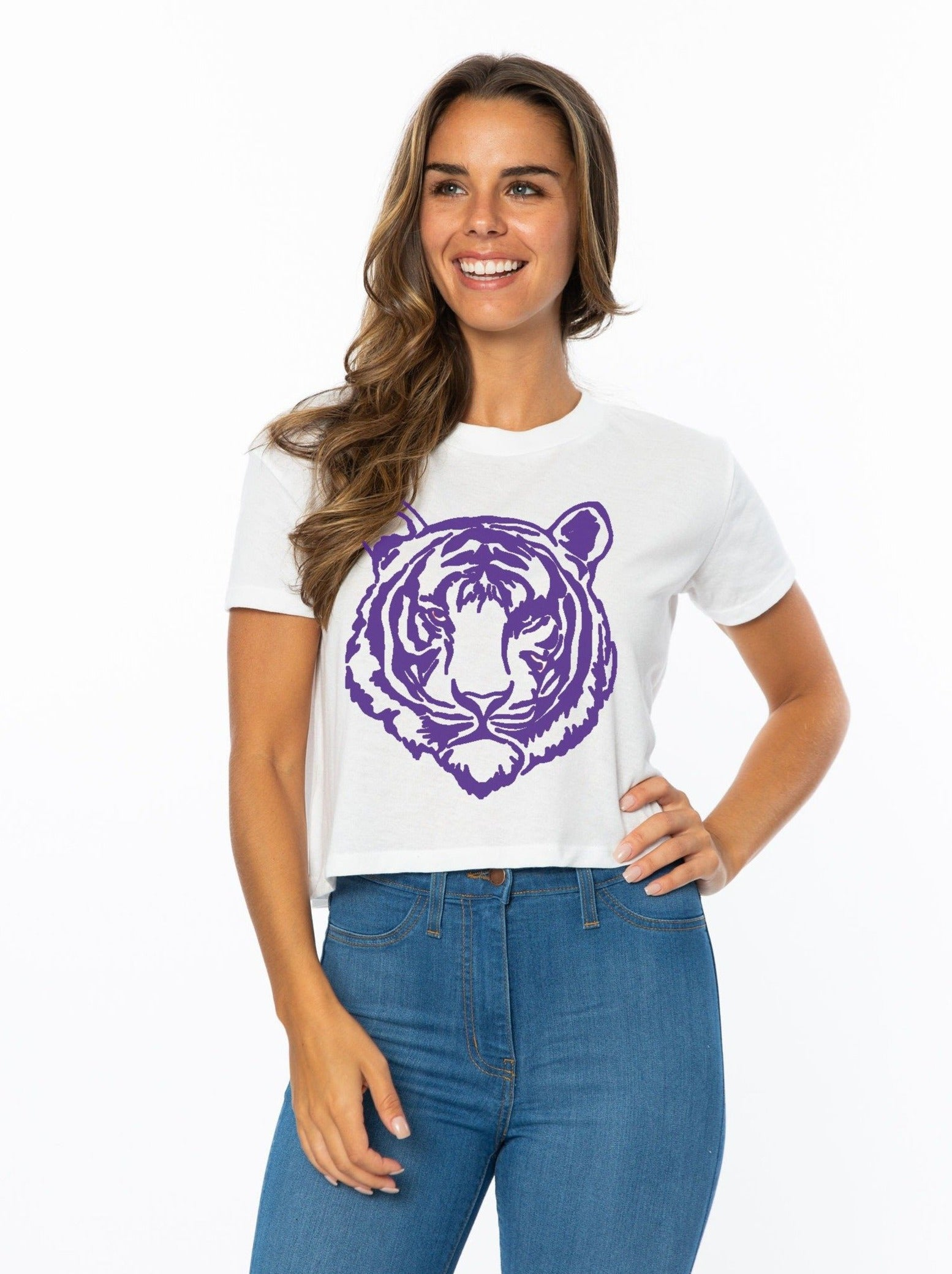 Crop | Purple Tiger
