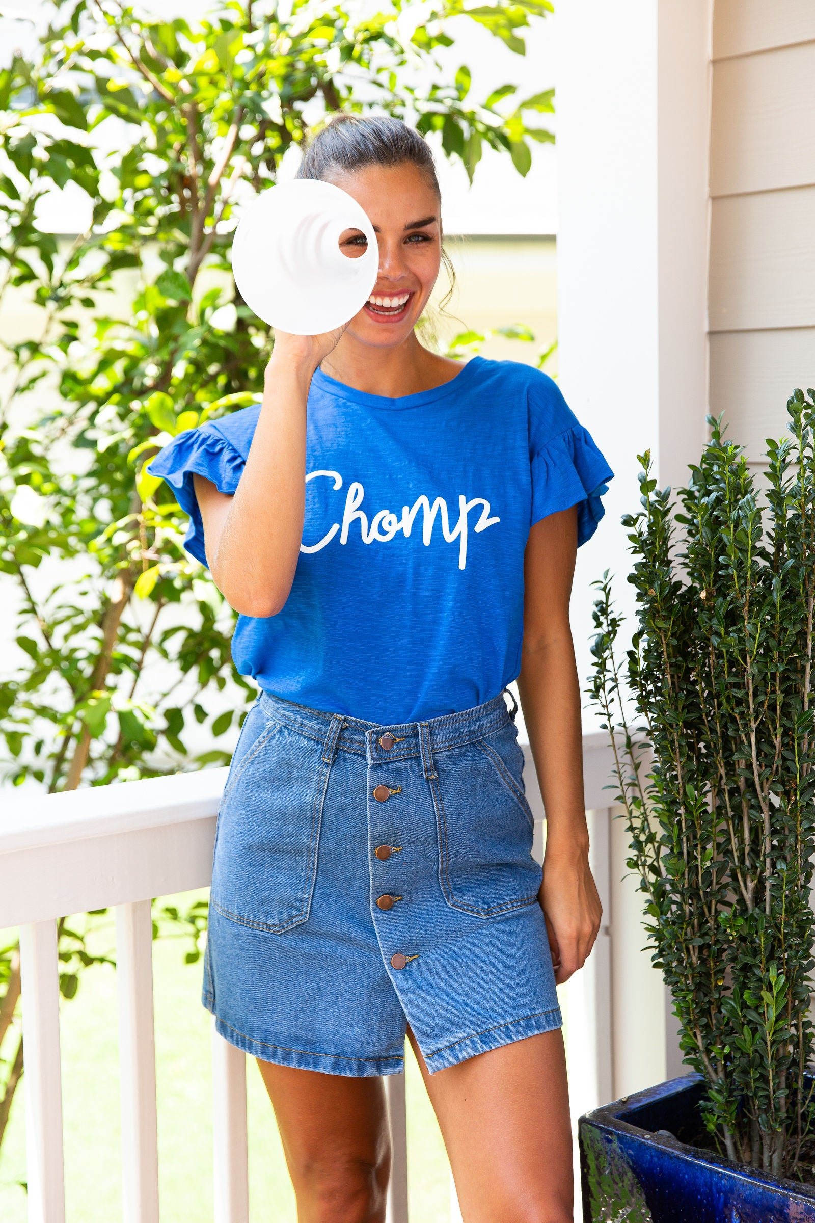 Chomp | Ruffle Sleeve Shirt