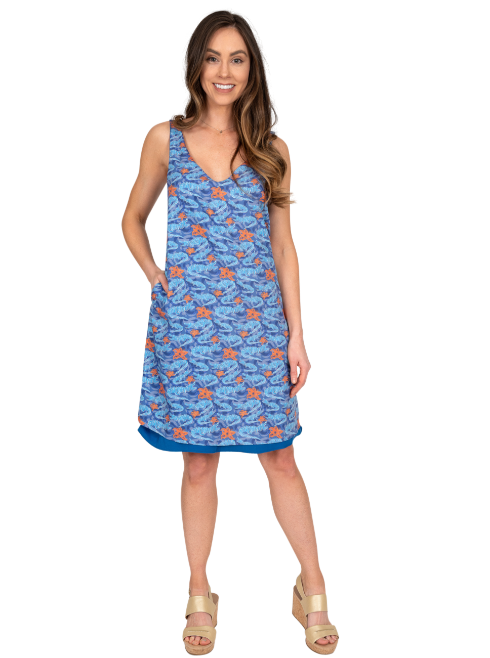 Reversible Dress | Gator Print