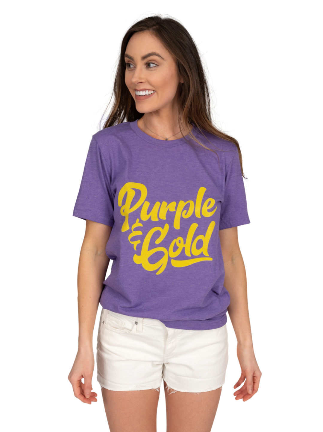 Crew Tee | Purple + Gold