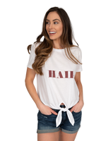 Tie Front Tee | Hail