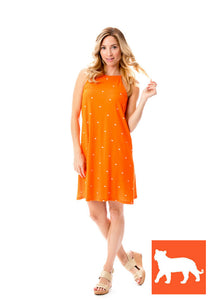 Tigers | Swing Dress | Orange