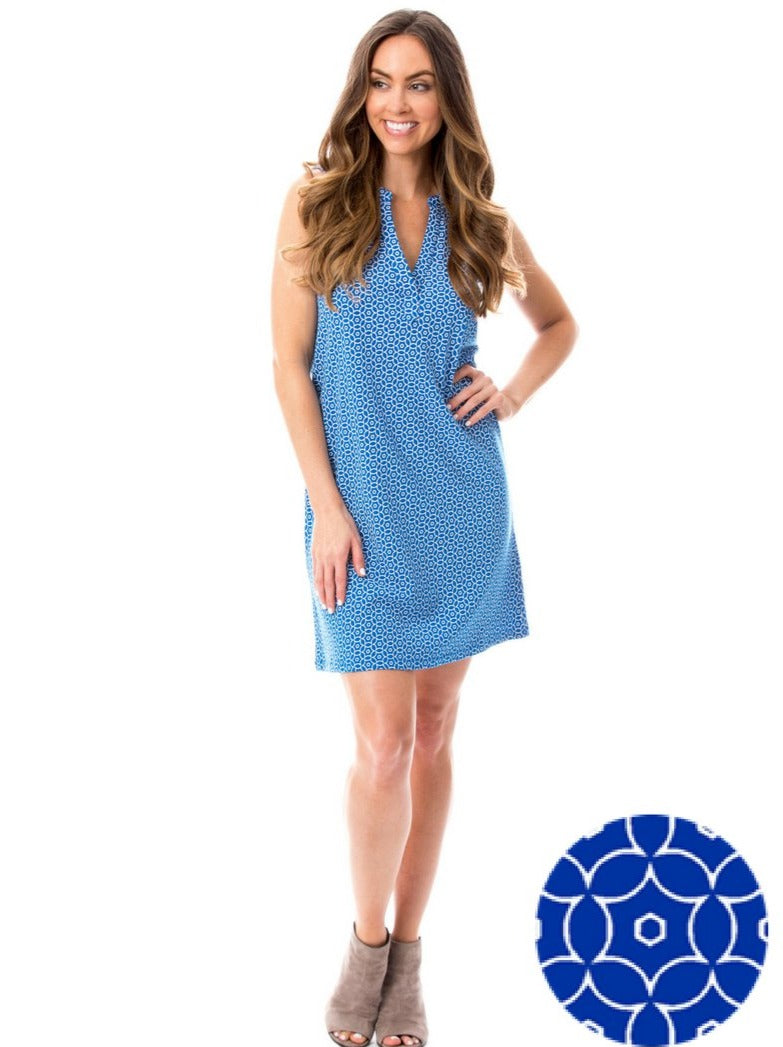 Blue + White | Shift Dress