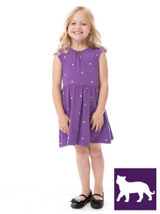 Tigers | Girls Dress | Purple