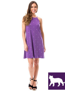 Tigers | Swing Dress | Purple