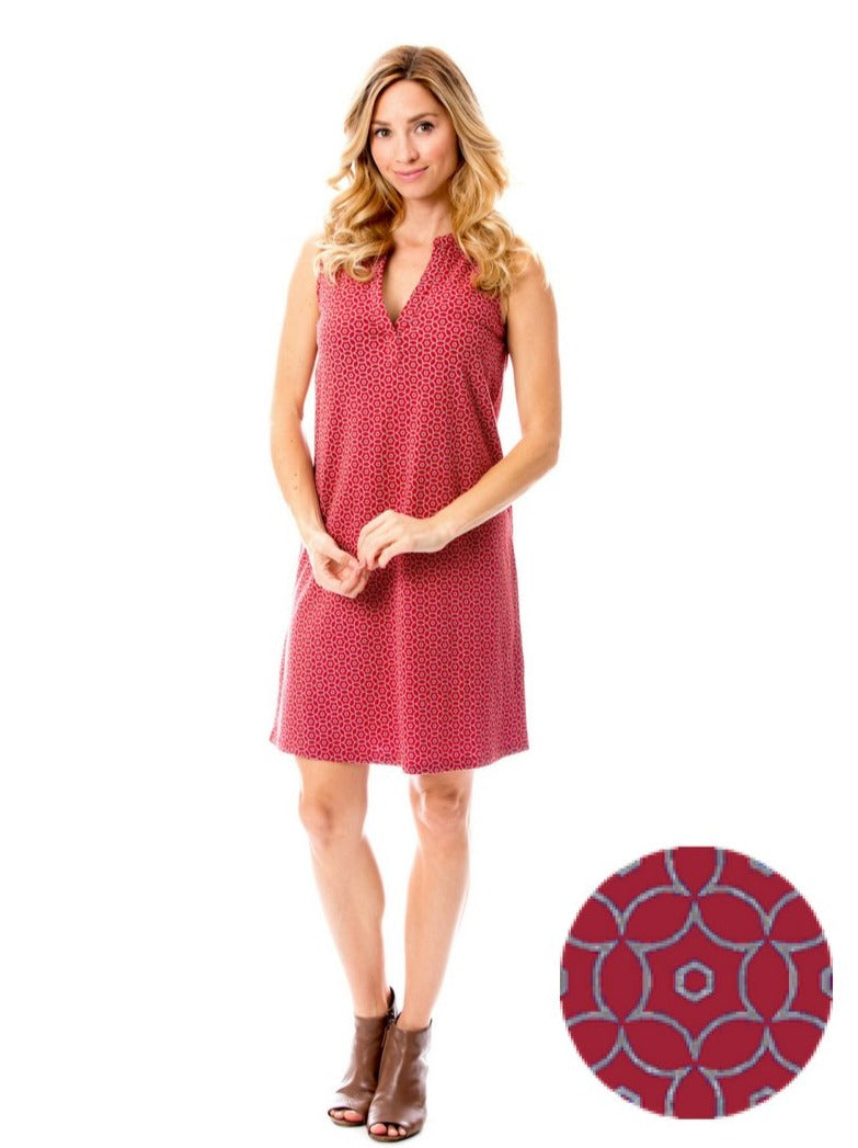 Crimson + Gray | Shift Dress