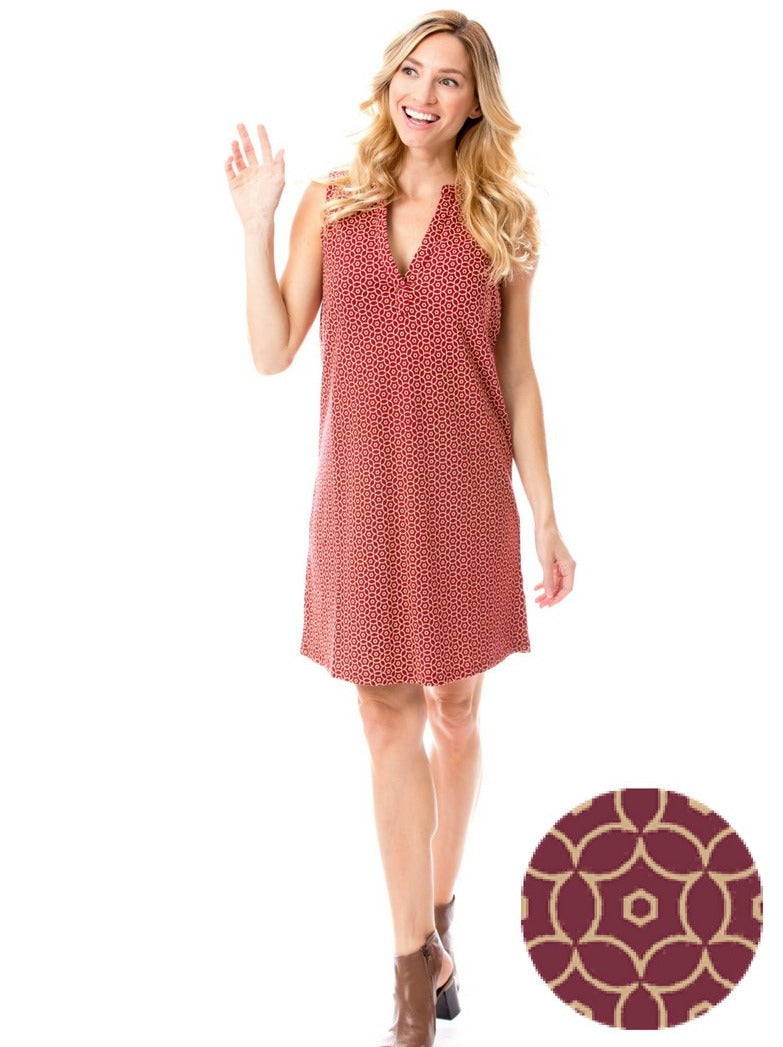Garnet + Gold | Shift Dress