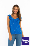Ruffle V-Neck Top | Gators
