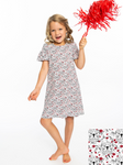 Girls Dress | Bulldog Print