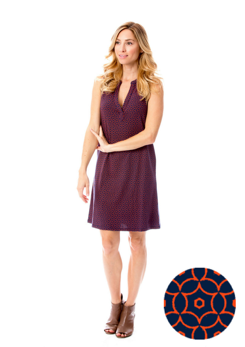 Navy + Orange | Shift Dress