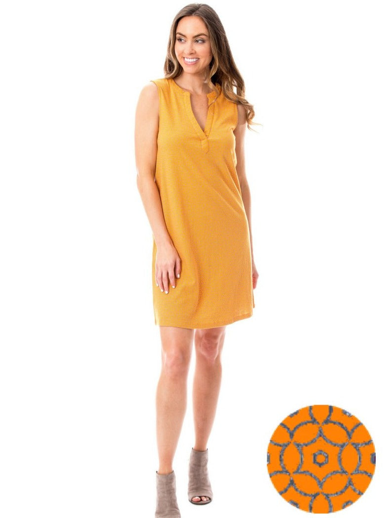 Orange + Gray | Shift Dress