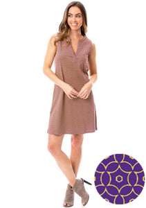 Purple + Gold | 18 Shift Dress