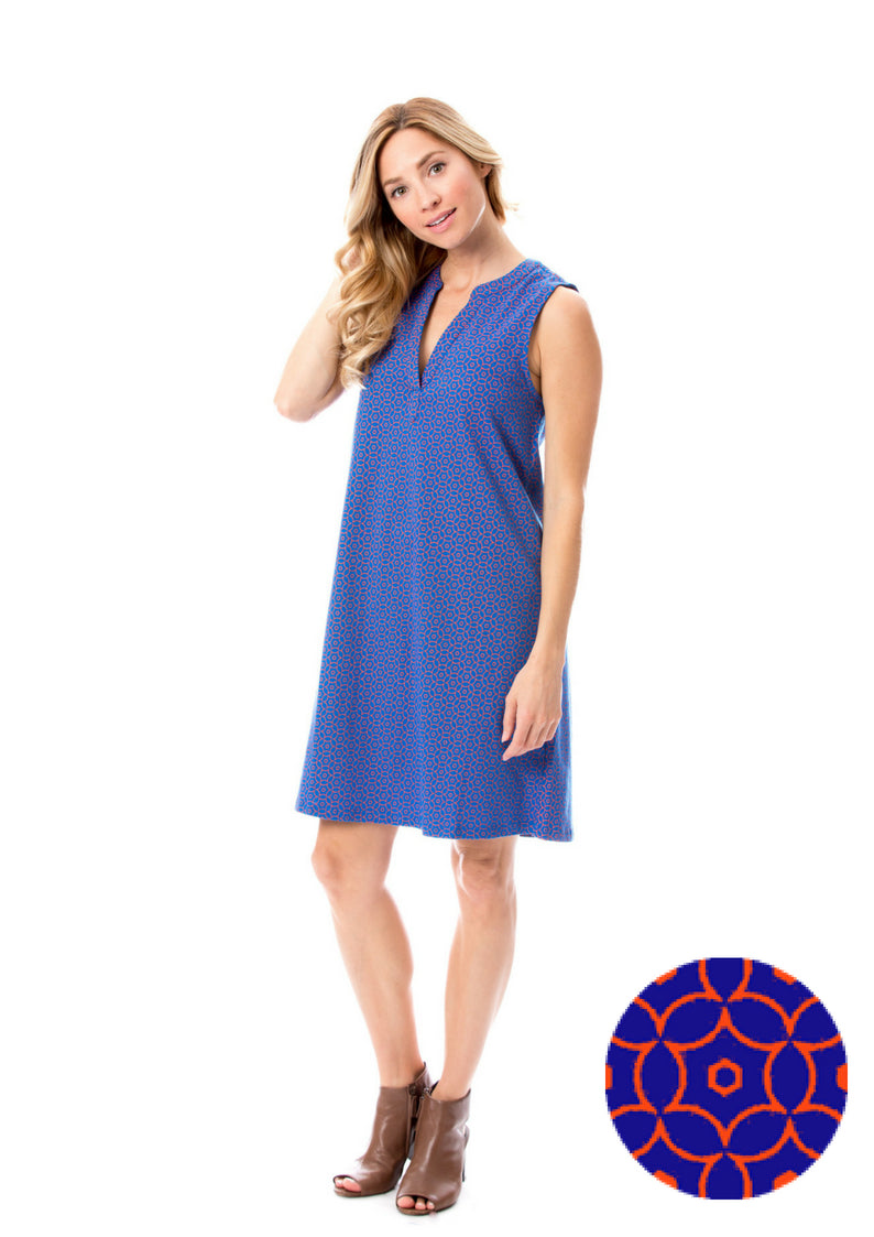 Blue + Orange | Shift Dress