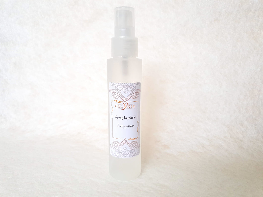 Spray bi-phase anti moustique