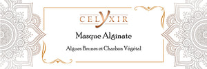 Masque alginate extraits marin/charbon