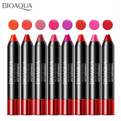 8PCS/lot New Lips Makeup Sexy Nude Velvet Matte Lipstick Pencil Lip Kits Waterproof Make Up Pigments Red Lip Stick Sets Beauty
