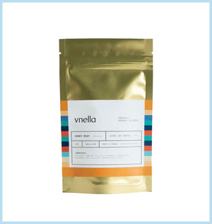 Image of the honey mint flavour of vnella organic smokable herbs.