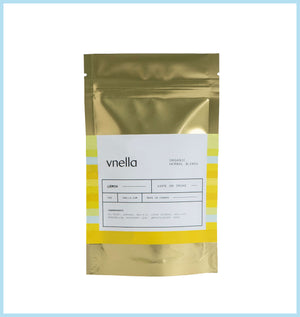 Image of the lemon flavour of vnella organic smokable herbs.