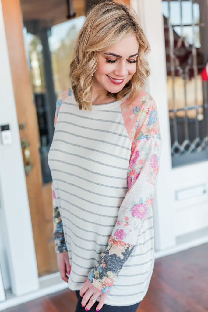 It's A Spring Thing Striped Top