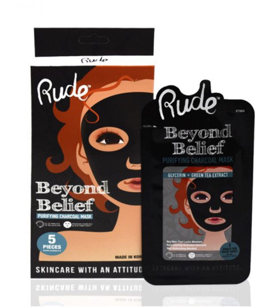 Paquete de mascarillas Beyond Belief Purifyng Charcoal Mask  Rude