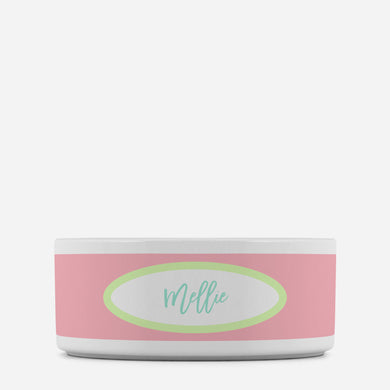 Feminine Personalized Pet Bowl