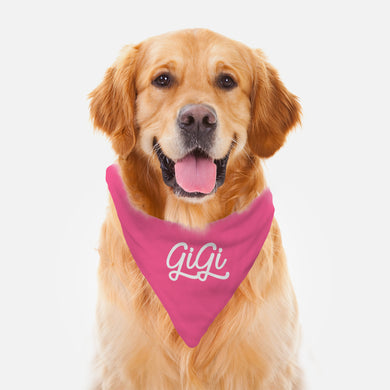 Personalized Pink Pet Bandana