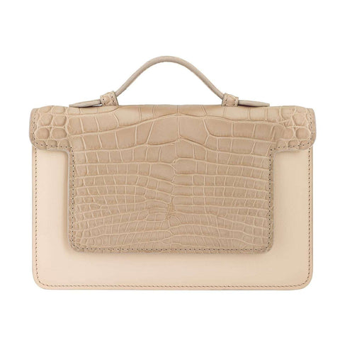 Sac SIGNATURE26 cuir grainé gold