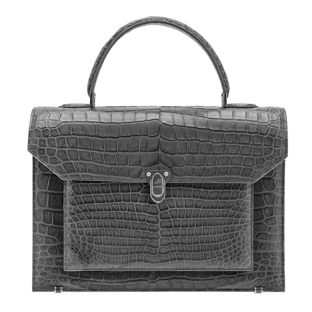 LADY Crocodile Gris BAUDE PARIS