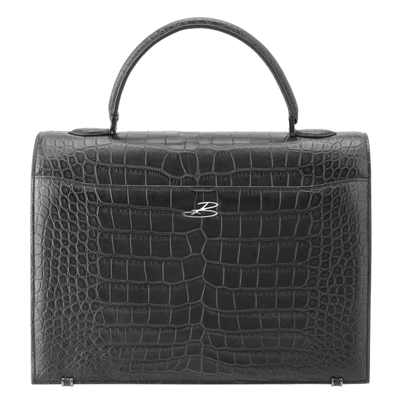 LADY Crocodile Noir Mat BAUDE PARIS