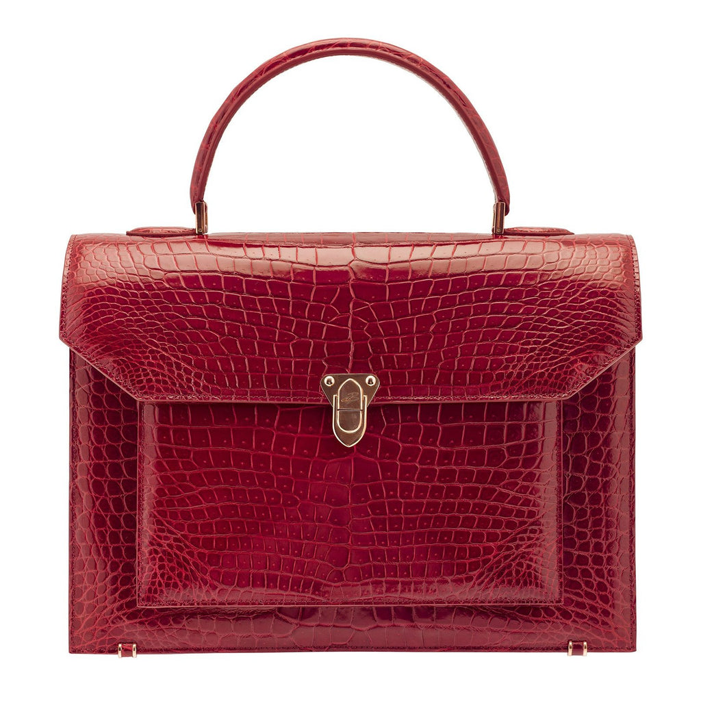 LADY Crocodile Rouge BAUDE PARIS