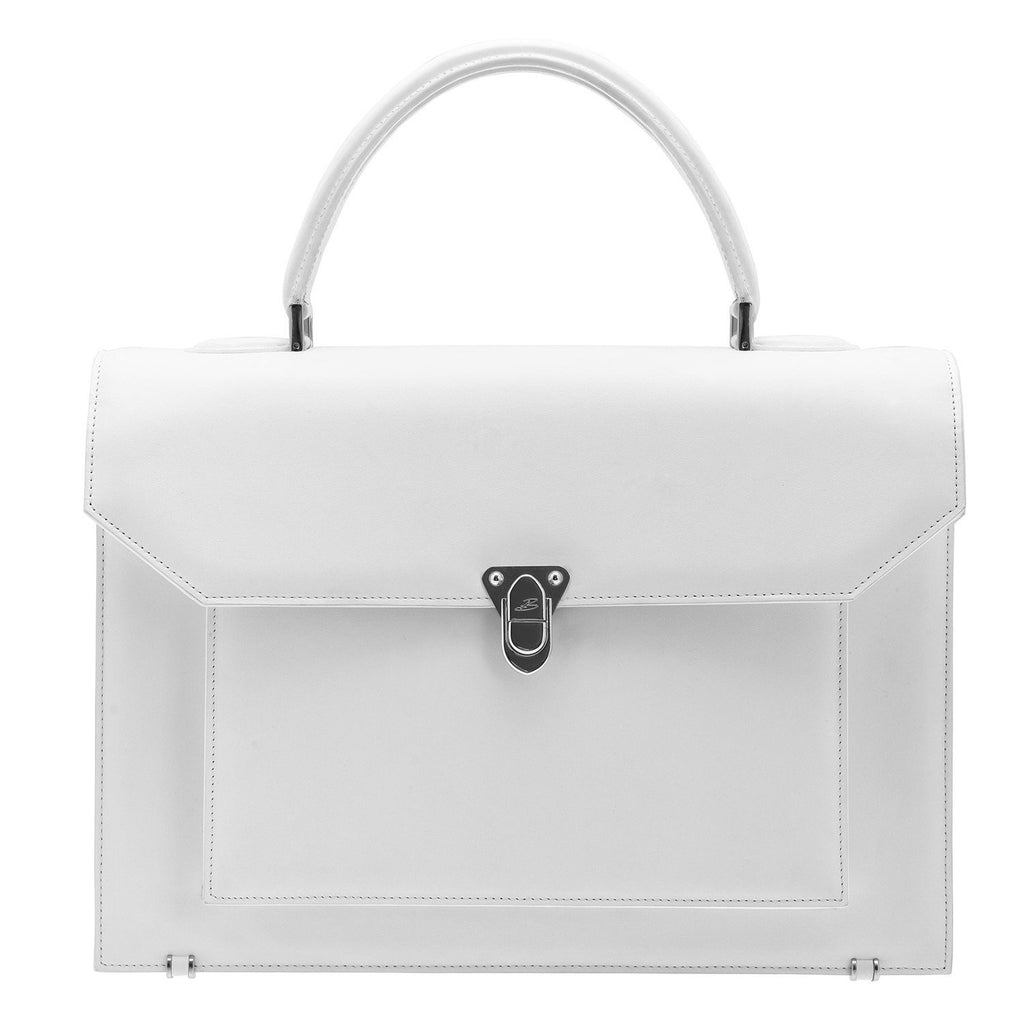 LADY Cuir Blanc BAUDE PARIS