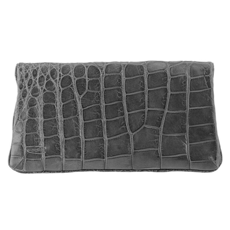Pochette LITTLE PARISIENNE crocodile gris