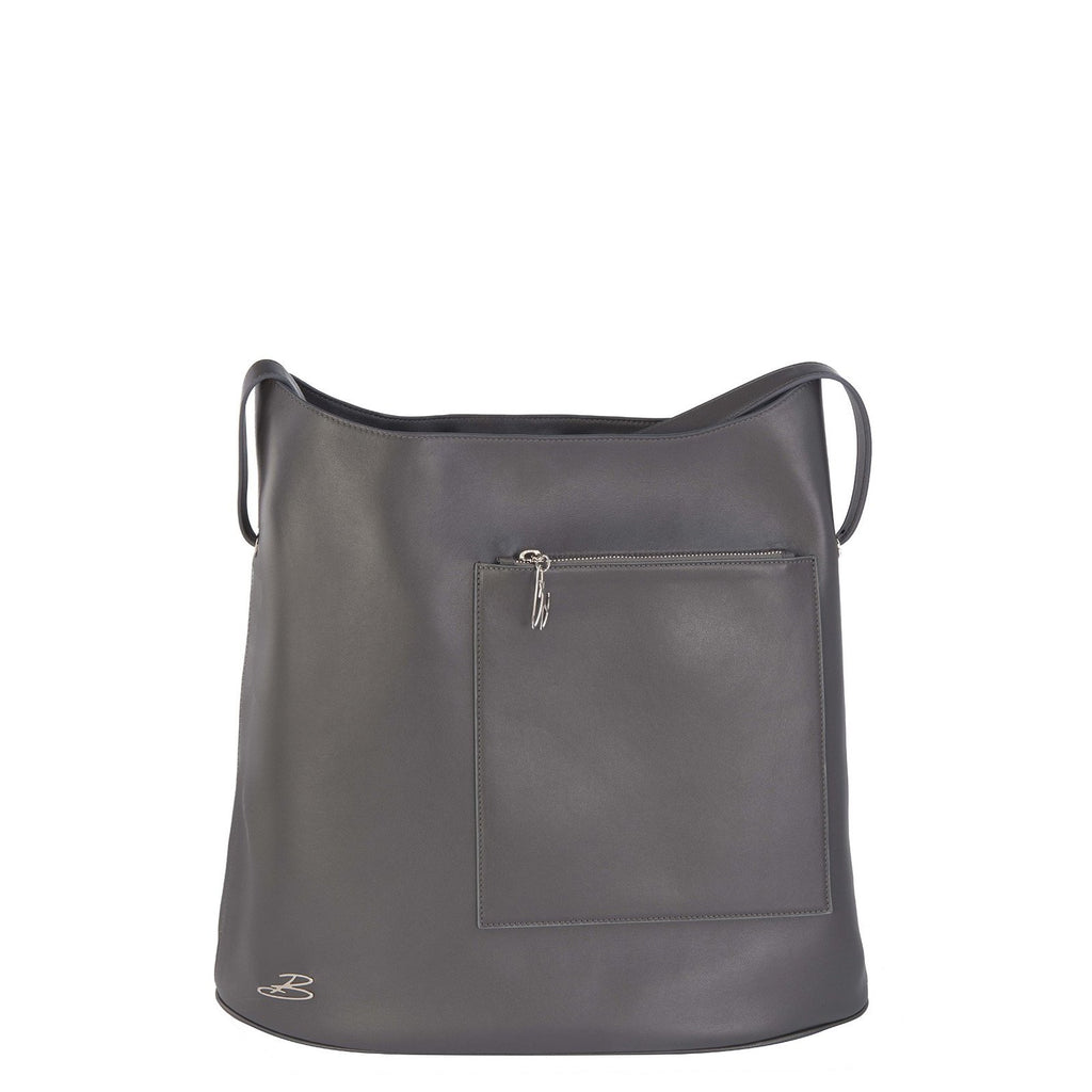 Sac TRAVEL cuir gris