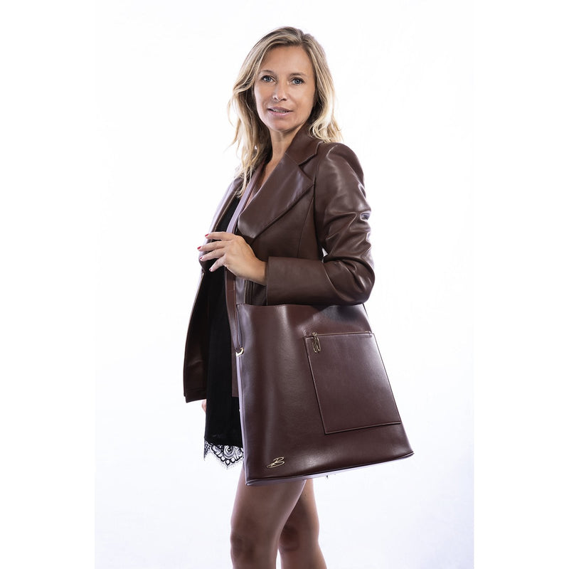 Sac TRAVEL cuir marron BAUDE PARIS