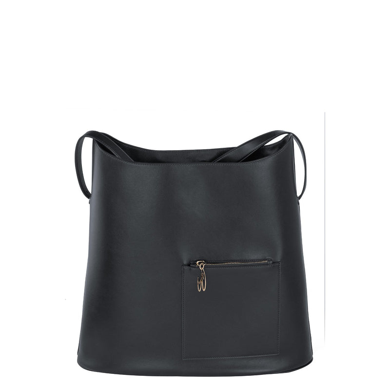 Sac TRAVEL cuir noir BAUDE PARIS