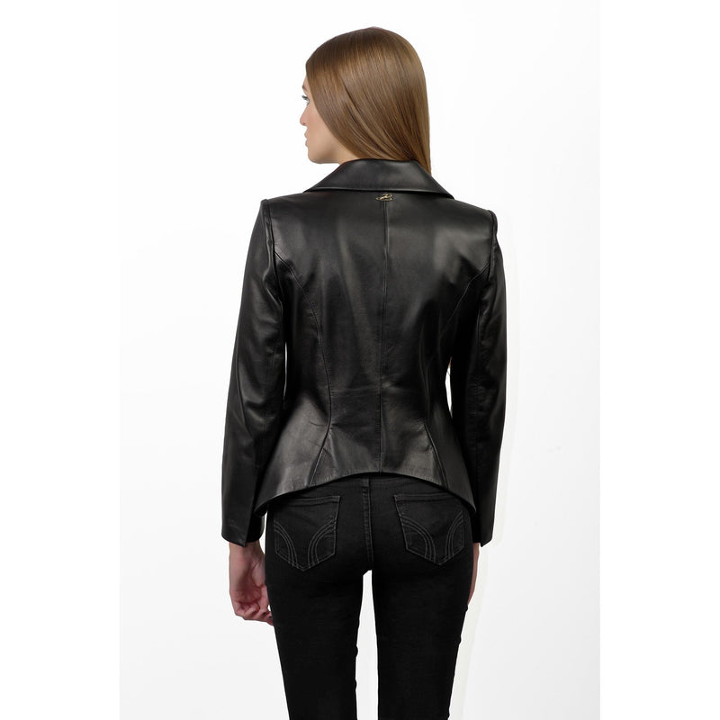 Veste Haute Couture LONDON cuir noir BAUDE PARIS