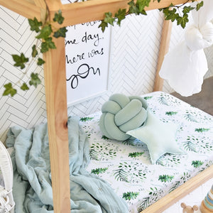 Fitted Cot Sheet (SHK) - Enchanted Forest