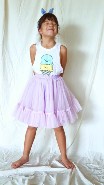 Fairy Tulle Skirt in Lilac