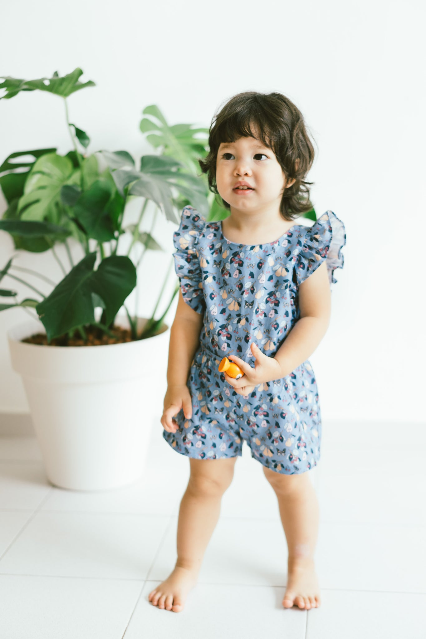[CNY 2021] Claire Playsuit- Blue Florals