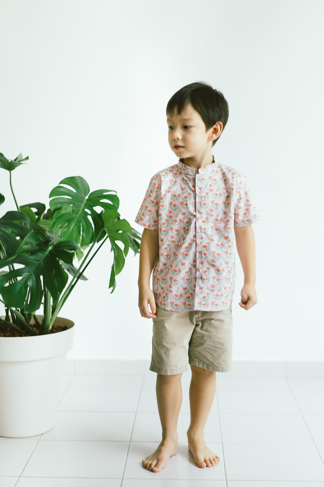 [CNY 2021] Elliot S/S Shirt - Red Gingko Leaf