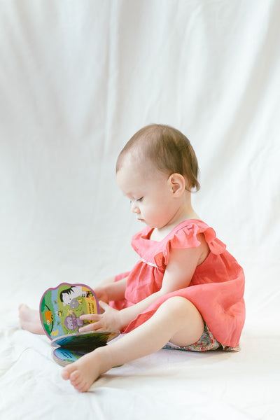 EMILY - Raspberry Linen and Amelie Bloomers (Liberty Fabric)