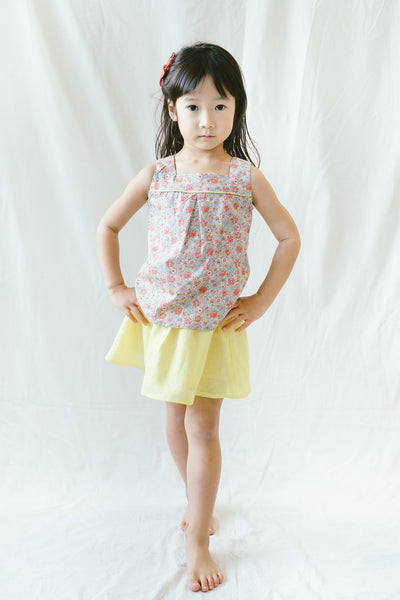 LILY - Amelie Liberty Blouse with Linen Skirt