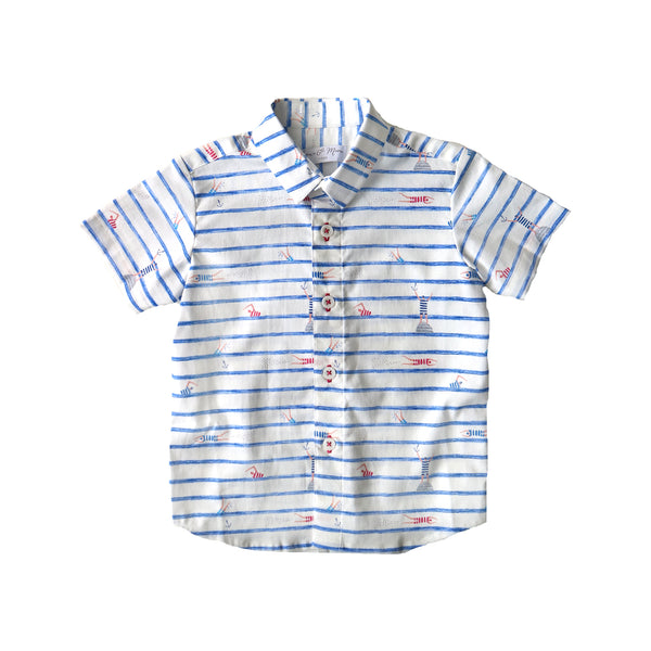 RYAN - Swimmers Stripes in White