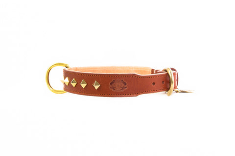 Studded Luxe Leather Collar - Florence
