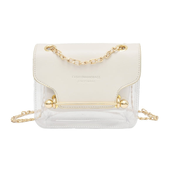 0d6635b347 ... Fashion Women Brand Design Small Square Shoulder Bag Clear Transparent  PU Composite Messenger Bags New Female ...